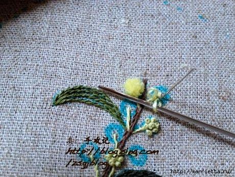 Объемная вышивка. Ромашки, одуванчики, хризантемы и мимоза (20) (460x346, 155Kb)