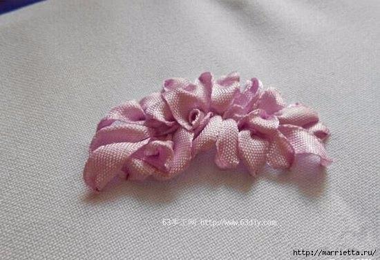 Объемная вышивка. Ромашки, одуванчики, хризантемы и мимоза (36) (550x376, 116Kb)