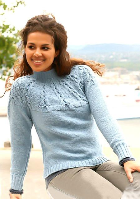 06 Пуловер с кокет (450x640, 172Kb)