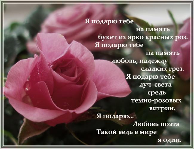 Стихотворение я подарю тебе улыбку и день покажется