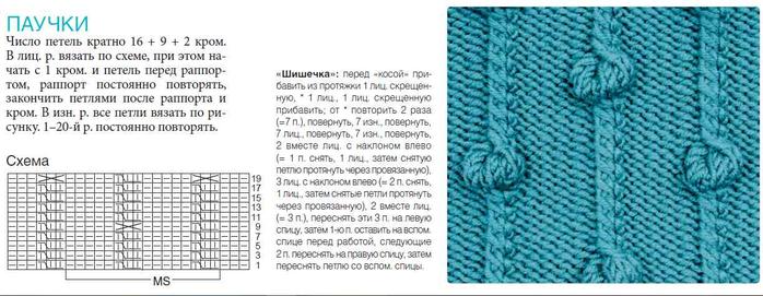 Схема узор с шишечками