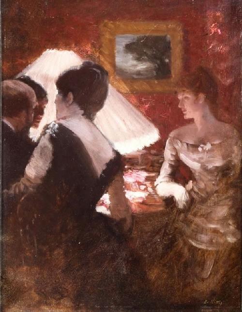 Giuseppe-de-Nittis-xx-n-the-Lamplight-xx-Private-collection (500x644, 225Kb)