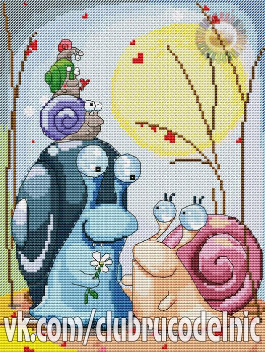 Family of snails (526x700, 719Kb)