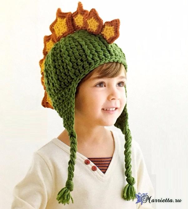 Шлем воина крючком - шапочка для мальчика (602x669, 295Kb)