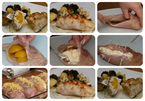 Фаршированная куриная филе рецепты