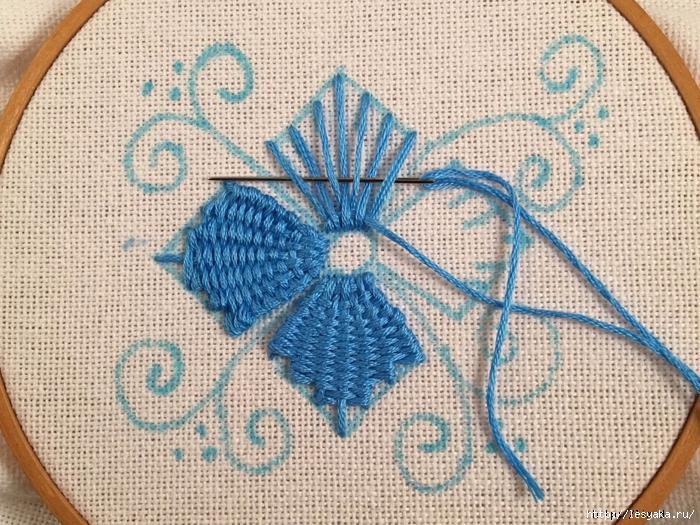 Вышивка нитками на ткани своими руками 62