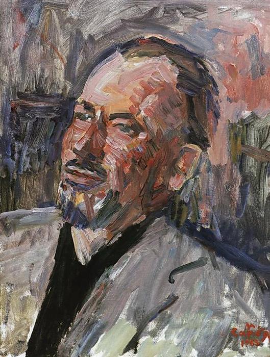 Сарьян Мартирос Сергеевич (1880 — 1972) Портрет Джона Стейнбека_1963 (529x700, 431Kb)