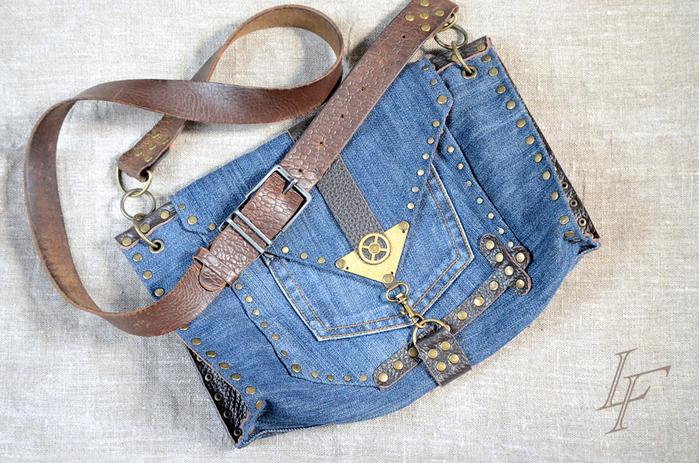 Джинсовые сумки через плечо своими руками и выкройки