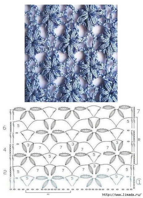 grilles pour une Г©tole ou un plaid printanier au crochet.12jpg (463x640, 222Kb)