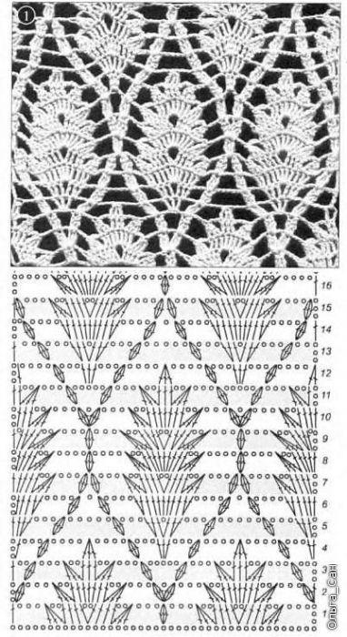 grilles pour une Г©tole ou un plaid printanier au crochet6 (382x700, 206Kb)