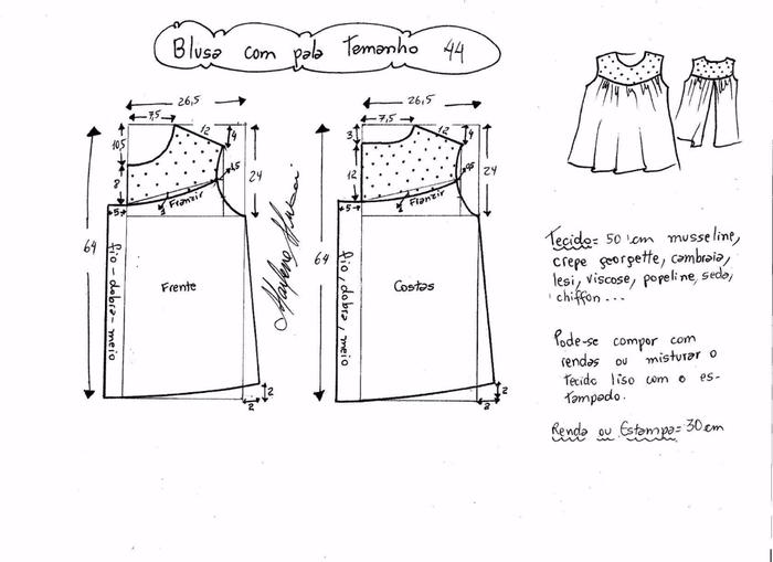Блузка с кружевной открытой спинкой (5) (700x509, 141Kb)