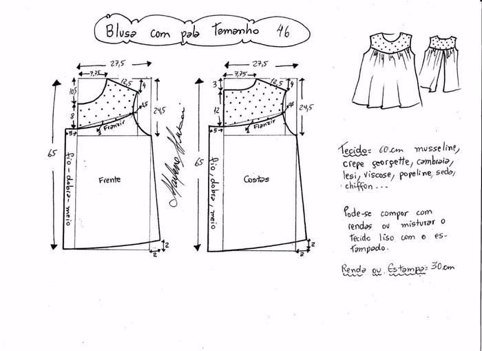Блузка с кружевной открытой спинкой (6) (700x509, 142Kb)