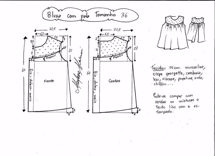 Блузка с кружевной открытой спинкой (9) (700x509, 143Kb)