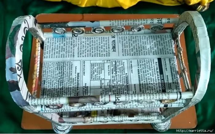 Декоративная полочка из газетных трубочек. Мастер-класс (1) (700x436, 253Kb)