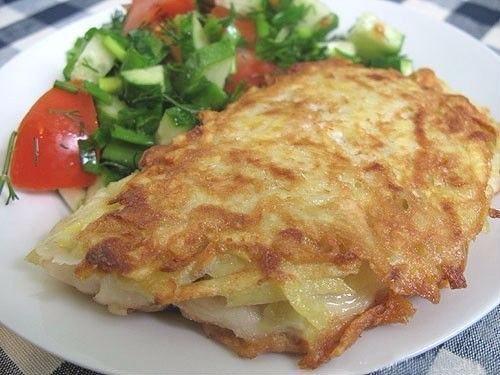 жареная рыбка с картофельной корочкой