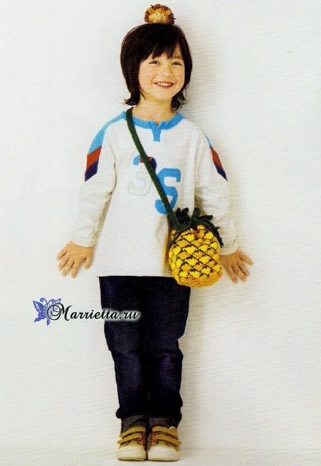 Ананас, лимон и арбуз - сумочки крючком для девочки (2) (451x654, 259Kb)
