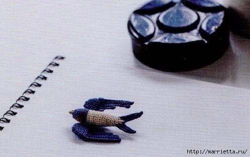 Амигуруми. Схемы вязания совушки, чайки и голубя (1) (498x313, 119Kb)