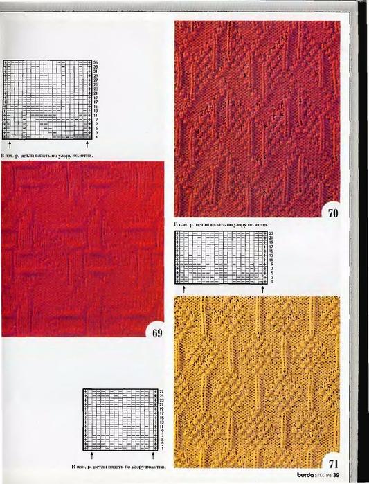 Узоры вязания на спицах рельефные узоры