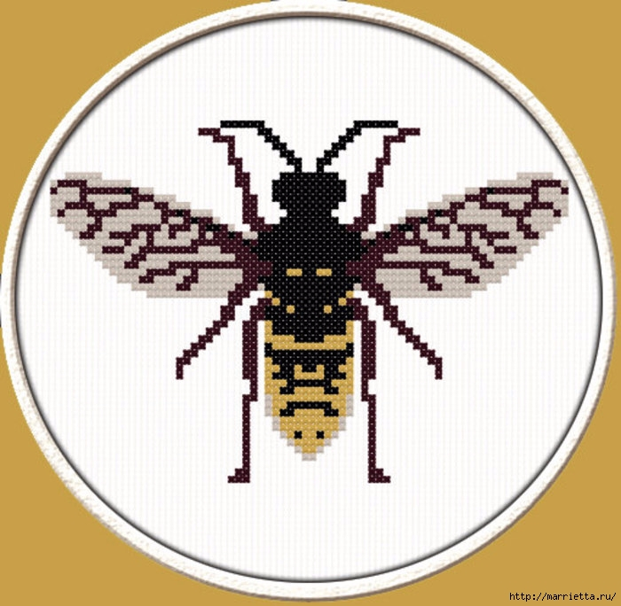 Красивая вышивка для украшения баночек с медом (1) (700x684, 240Kb)