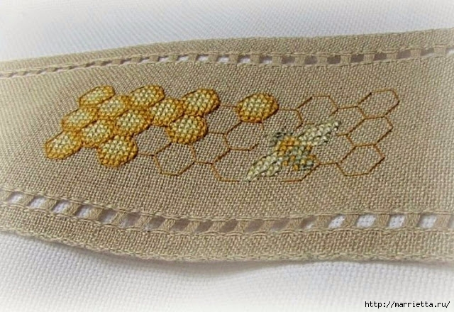 Красивая вышивка для украшения баночек с медом (3) (640x440, 231Kb)