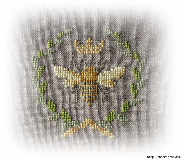 Красивая вышивка для украшения баночек с медом (7) (640x559, 290Kb)