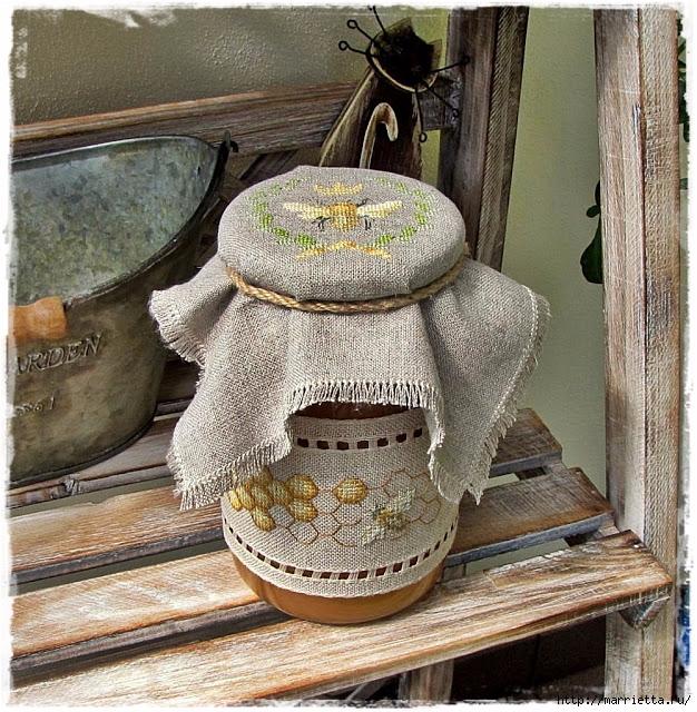Красивая вышивка для украшения баночек с медом (9) (626x640, 398Kb)