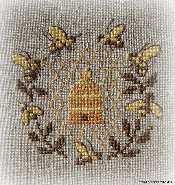 Красивая вышивка для украшения баночек с медом (11) (605x640, 458Kb)