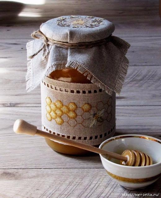 Красивая вышивка для украшения баночек с медом (16) (519x640, 237Kb)