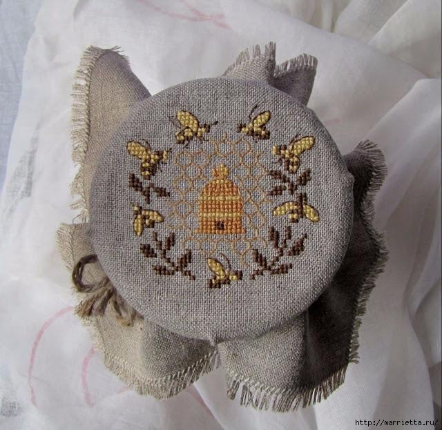 Красивая вышивка для украшения баночек с медом (18) (640x623, 293Kb)
