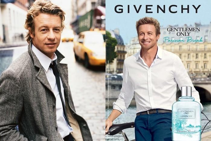 Актер Саймон Бейкер в рекламе Givenchy