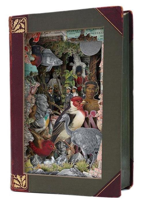 Самые красивые скульптуры, сделанные из книг (24 примера)