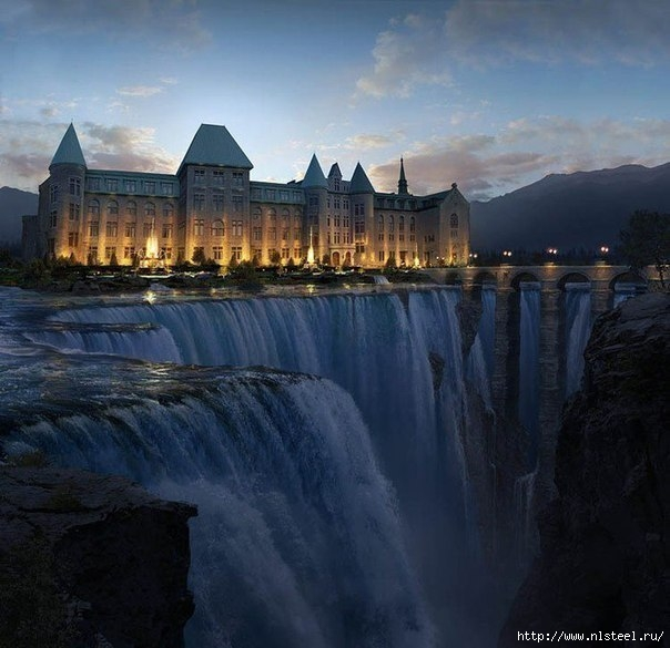 Замок у водопада, Канада/3925073_9RJRvk8tgbY (604x585, 173Kb)