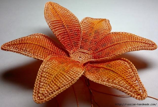 Цветы крючком. Тигровая лилия (2) (640x434, 239Kb)