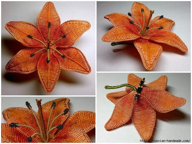 Цветы крючком. Тигровая лилия (4) (640x480, 306Kb)