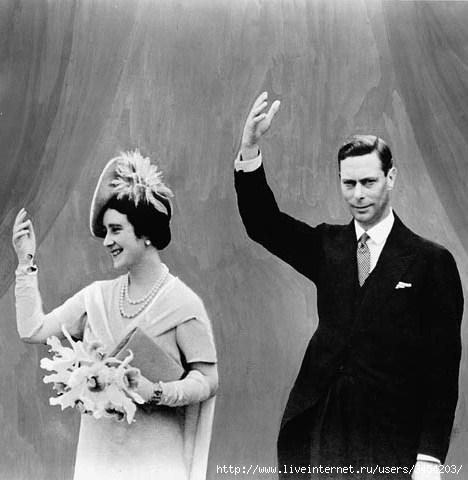 Рис.2.2.4.11 Сын Виктории-Марии фон Тэк – Король Георг VI Виндзорский и супруга Короля - леди Елизавета Боуз Лайон (468x480, 98Kb)
