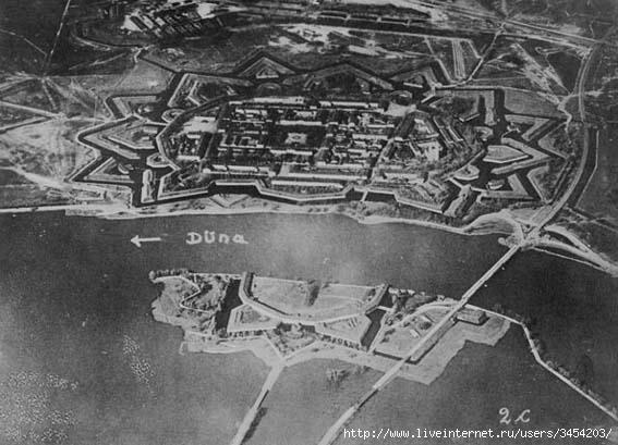 Рис.2.1.1.3 Крепость Дюнабург. Вид с запада. Не путать Дюнабург с крепостью Дунабург – Даугевпилс (Двинск, Борисо-Глебск) (567x409, 135Kb)