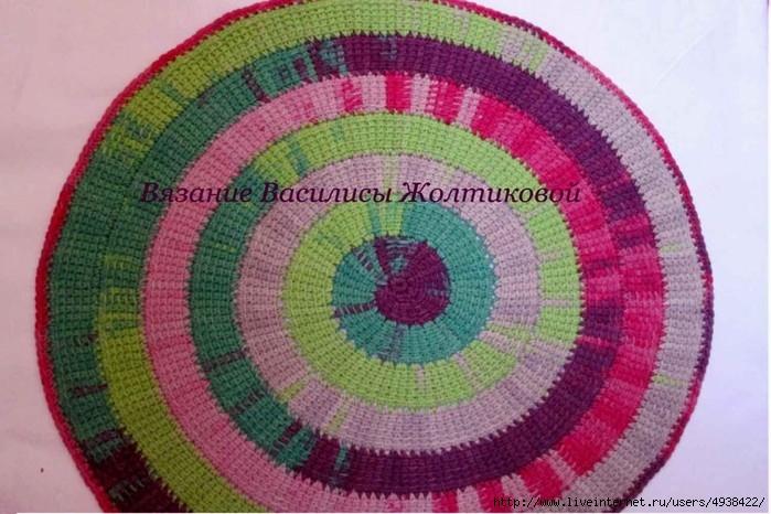 Тунисское вязание — спираль