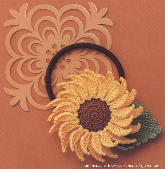 Вязание крючком. Резинки для волос. схемы вязания/3071837_233 (550x564, 192Kb)