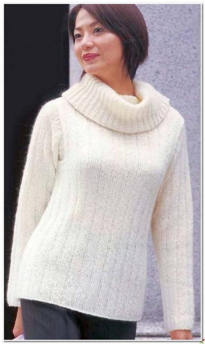 Вязание спицами. Теплый свитер. схема вязания/3071837_241 (417x700, 171Kb)