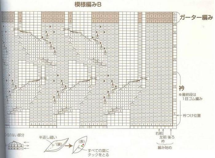 Вязание спицами. Жакет с воротом стоечкой. схема вязания/3071837_255 (700x514, 251Kb)