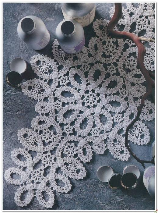 Салфетки филейной вязкой и в стиле брюггского кружева. схема вязания/3071837_271 (519x700, 327Kb)