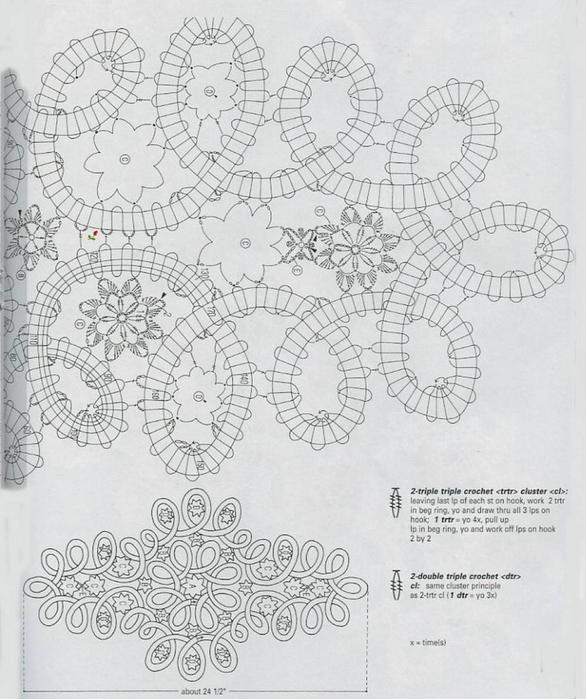 Салфетки филейной вязкой и в стиле брюггского кружева. схема вязания/3071837_273 (586x700, 271Kb)
