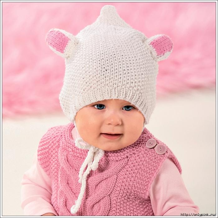 Вязание для шапочки девочка спицами