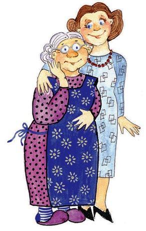 Бабушка и мама (292x460, 59Kb)