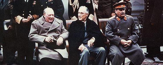 churchill-roosevelt-stalin Черчилль прилетел в Ялту с Мальты (555x222, 90Kb)
