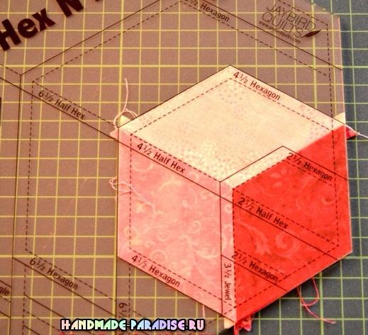 Лоскутное одеяло «Кубики» в технике пэчворк (18) (519x473, 301Kb)