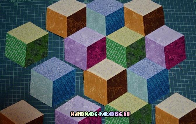 Лоскутное одеяло «Кубики» в технике пэчворк (24) (672x425, 299Kb)