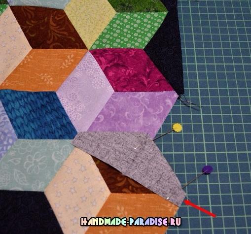Лоскутное одеяло «Кубики» в технике пэчворк (32) (509x475, 276Kb)