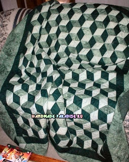 Лоскутное одеяло «Кубики» в технике пэчворк (34) (510x642, 372Kb)