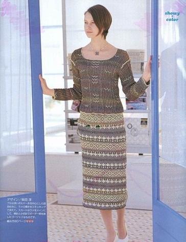 Жаккард крючком. Схемы вязания стильной юбки (4) (364x473, 163Kb)